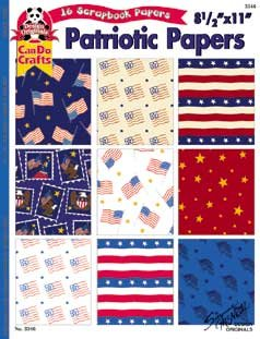 Patriotic Papers - 16 Scrapbooking Papers 8.5
