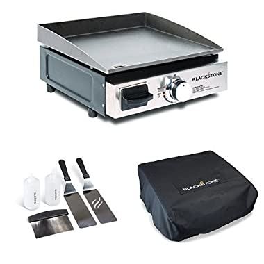 Blackstone Portable Gas Grill/Griddle with Griddle Kit and CarryBag/Cover