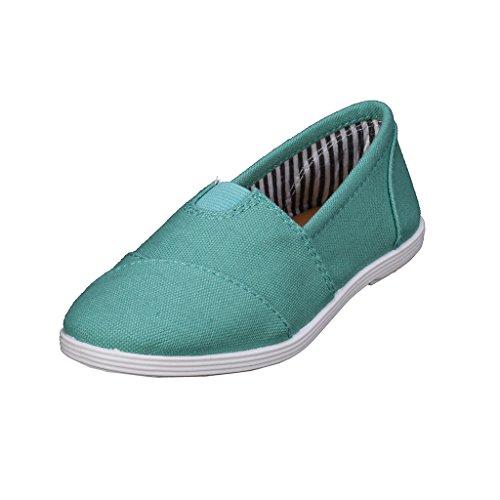 Coshare Kid's Fashion Little Girl Elastic Detail Flat Slip-on Sneakers