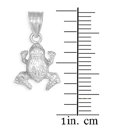 10 ct 471/1000 Structure Or Blanc Grenouille Charme Pendentif