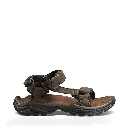 Teva Men's Terra FI 4 Leather Sandal, Turkish Coffee, 13 Medium -