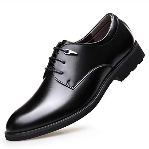 39 Casuales Correa Los Lxjl Negocios Hombres black Formal Moda Zapatos De Cuero Inverness qT1HxgA7