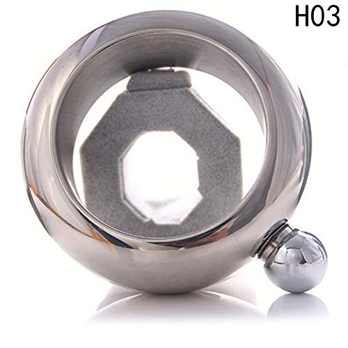 Bangle Bracelet Hip Flask Silver Rainbow Copper Grade 304 Stainless Steel Whiskey Drinkware And Funnel Set 8 Colors