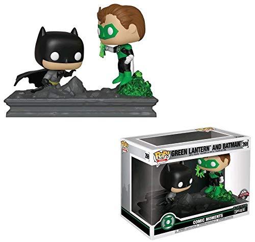 - Green Lantern vs Batman (GameStop Exclusive): DC Universe x Funko POP! Comic Moments Vinyl Figure + 1 Official Marvel Trading Card Bundle [#269 / 36292]