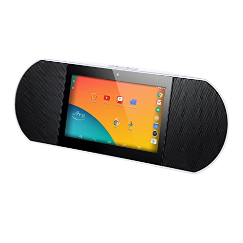 Zettaly Portable Internet Radio Bluetooth 4.0 HiFi Smart Speaker WiFi Powered by Android 6.0 with Built-in 7 Inch Quad Core Tablet and Google Play White