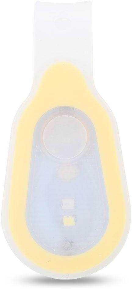 Keenso Lampe de Poche Mains Libres Lumi/ère de S/écurit/é Fixation de S/écurit/é pour Lampe de Poche en Silicone pour Eclairage de Nuit /à LED avec Clip