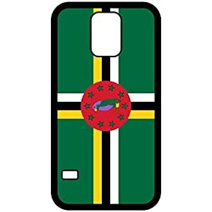 Dominica Flag Black Samsung Galaxy S5 Cell Phone Case - Cover