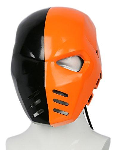 Deluxe Deathstroke Adult Costumes (Deathstroke Helmet Deluxe Resin Adult Mask Season 5 Cosplay Props Xcoser)