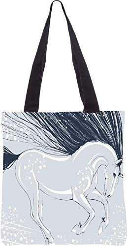 Snoogg Unicorn 2824 13,5 x 15 Zoll-Shopping-Dienstprogramm-Einkaufstasche aus Polyester-Segeltuch gemacht
