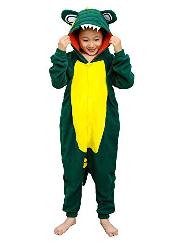 Kids Animal Onesie Green Crocodile Pajamas Cute