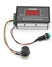 DC 6-60V 12V 24V 36V 48V 30A PWM DC Motor Speed Controller (PWM) Speed Adjustable Stepless Governor Regulator, Motor Speed Controller with Start Stop Switch