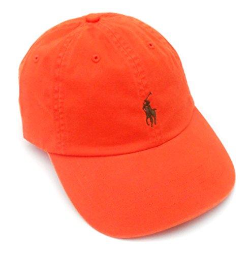 - Polo Ralph Lauren Mens Twill Classic Ball Cap Orange O/S