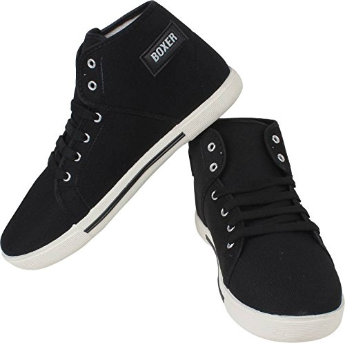 8a426590d42 Allez Kros Boxer Men s Canvas Casual Black Shoes  Buy Online at Low Prices  in India - Amazon.in
