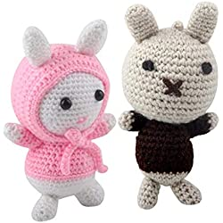 dailymall Cartoon Rabbit Crochet Kits Knitting Animal Material Package for Beginners