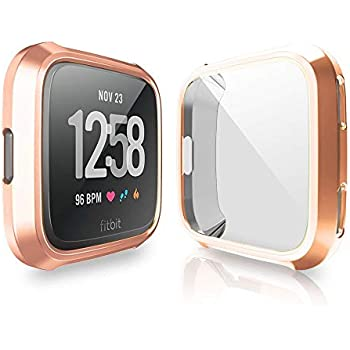 Amazon.com: iHYQ Case for Fitbit Versa,Soft TPU Plated