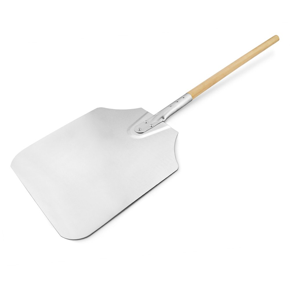 New Star Foodservice 50165 Aluminum Pizza Peel, Wooden Handle, 12 x 14 inch Blade, 36 inch overall by New Star Foodservice (Image #1)