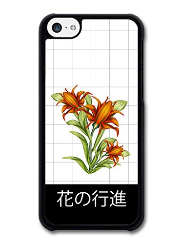 Cool Japanese Inpsired Retro Vintage Floral Design with Flower March Text case for iPhone 5C
