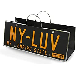 Cakewalk New York License Plate Gift Bag, Black,