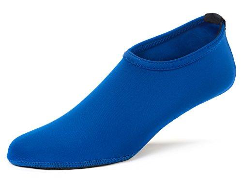 FUN TOES Barfuß Wasser Haut Schuhe Aqua Socken für Beach Swim Surf Yoga Übung Blau
