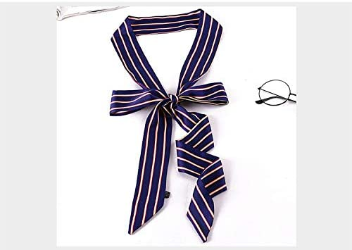HIDOUYAL Damen Schmal Krawattenschal Skinny Satin Tie Scarf 200cm*4,5cm