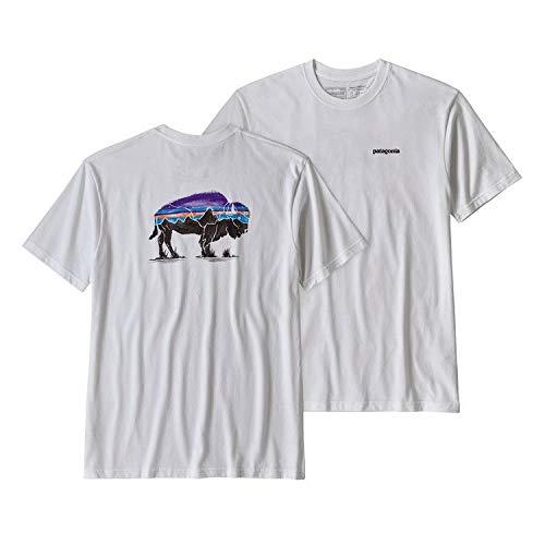 Patagonia Cotton Shirt - Patagonia Men's Fitz Roy Bison Responsibili-Tee (XX-Large, White (WHI))