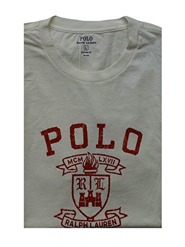 Ralph Lauren Polo - Herren Shirt - Ath Dept TEE - Patterned White - L