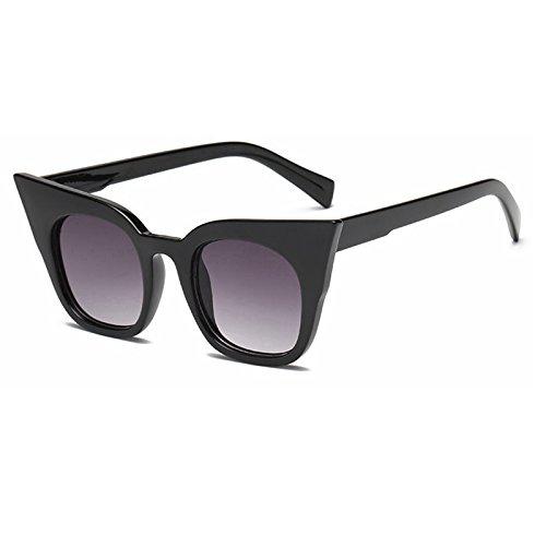 De Color Sol Mujer De Uv400 De De Sol TIANLIANG04 De Gafas Gato Tonos Amarillo Gafas Gafas De Gafas Sol Moda Vintage Ojo Verde Negro De wB7p17qE