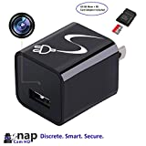 SnapCamHD with 32 GB Memory Included - 1080P Hidden Camera USB [newest model] Wall Charger Spy Camera Adapter Motion Detection
