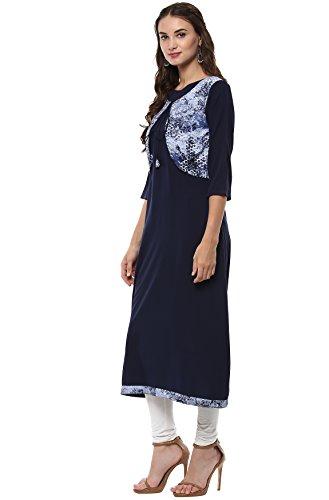 for Tunic Tops Janasya Women Kurti Indian Crepe 05S0qxXf