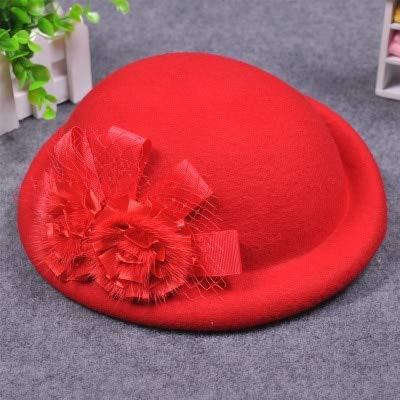 Amazon com: Funnmart Female Cute British Wool Felt Beret Hat