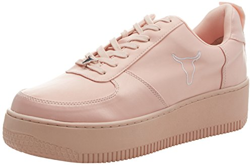 Windsor Smith Kvinna Racerr Rosa Satin Sneakers Rosa