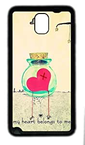 galaxy note 3 case,custom samsung galaxy note 3 case,TPU (Rubbber) Material,Drop Protection,Shock Absorbent,black case,My heart belongs to me
