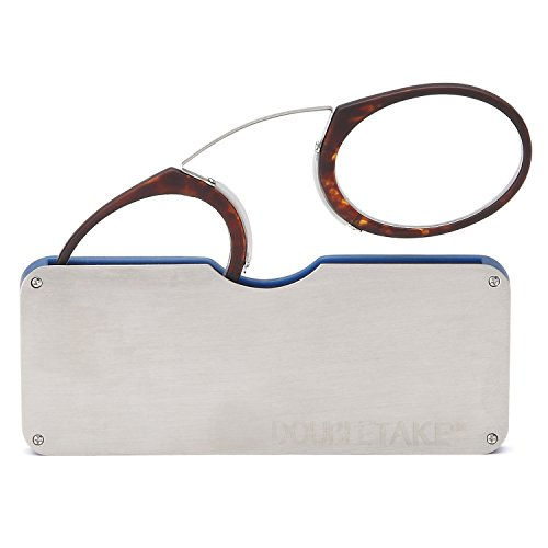 09239fcbc69 DOUBLETAKE 2 Pairs of Pince Nez Style Nose Resting Pinching Portable ...