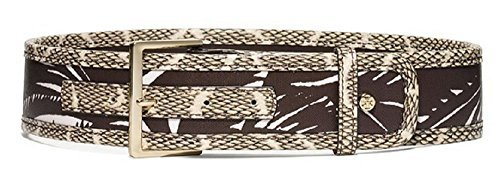 Tory Burch Square Buckle Mixed Belt Tabora (Small)