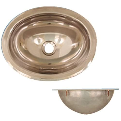 low-cost Scandvik 10280 S/S SINK MIRROR FINISH OVAL 13