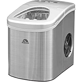 Frigidaire Counter Top Ice Maker, Produces 26 pounds Ice per Day, Stainless Steel with White See-thr