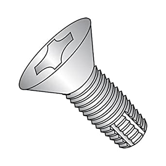 82 Degree Flat Head #8-32 Thread Size Pack of 7000 1 Length Phillips Drive Zinc Plated Steel Thread Cutting Screw Type F