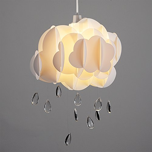 cloud lighting fixtures. cute childrenu0027s bedroom baby nursery white layered rain cloud with acrylic jewel raindrop water droplets ceiling cot mobile pendant light shade lighting fixtures