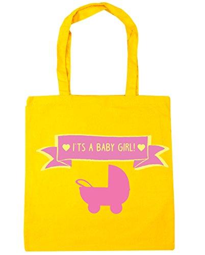 HippoWarehouse se trata de un bebé niña Tote Compras Bolsa de playa 42cm x38cm, 10litros amarillo