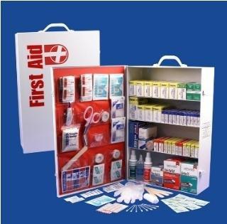 First Aid Cabinet 4-shelf Medical Bathroom Office by letor