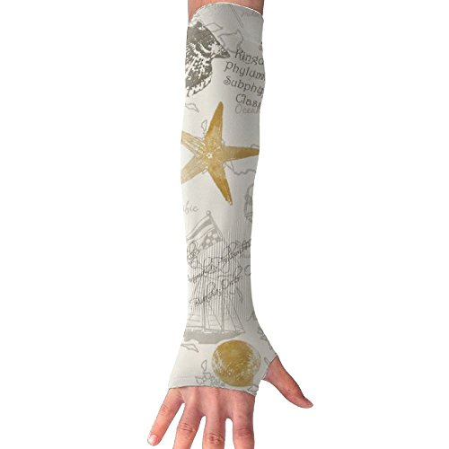 Shells And Things Goldmine Arm Sleeves UV Protection For Men Women Youth Arm Warmers For Cycling Golf Baseball Basketball Mine Arm Warmers