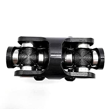3//4 Round x 3//4 Round Black Double Universal Steering Shaft U Joint Ford Checy Hotrod Ratrod