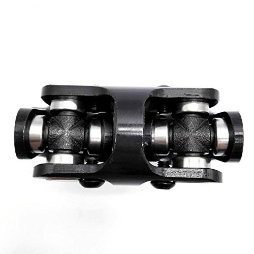 3/4 Round x 3/4 Round Black Double Universal Steering Shaft U Joint Ford Checy Hotrod Ratrod