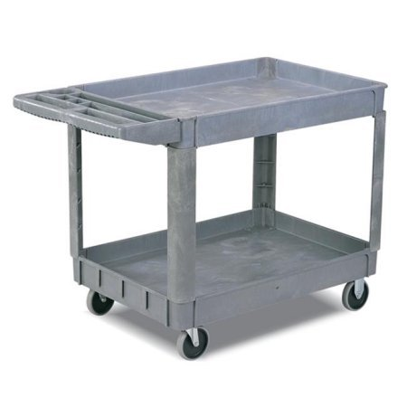 Pake Handling Tools - Plastic Utility Cart, 550 lbs Capacity, 37.4'' x 25.6''