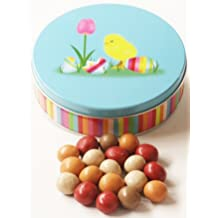 Scott's Cakes Fall Harvest Gourmet Chocolate Malt Balls in a Mini Easter Chick Tin