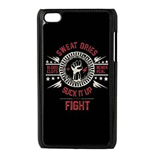 iPod Touch 4 Case Black Suck It Up Fight Dark ver. SNR Cell Phone Case Fashion Personalized