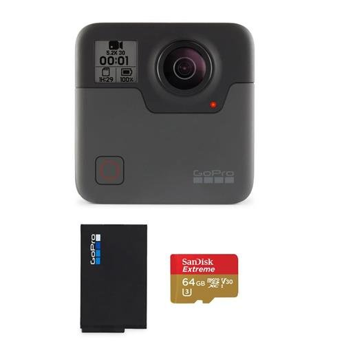 GoPro Fusion - Bundle Rechargeable Battery, 64GB MicroSDXC Card