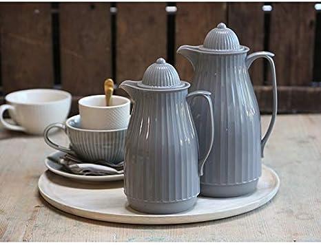 Chic Antique Thermokanne 1L Isolierkanne Kaffeekanne Mint Creme Grey