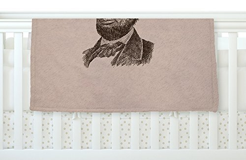 KESS InHouse BarmalisiRTB Abraham Lincoln Brown Vintage Fleece Baby Blanket 40 x 30 [並行輸入品]   B0785PDP4B