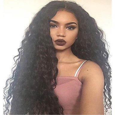 Nuevas grandes rizado pelucas de cabello humano con frontal de encaje bebé pelo sin pegamento Lace